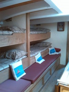 Pilgrim of Brixham comfy bunks