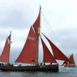 Pilgrim rigged with main and mizzen top sails