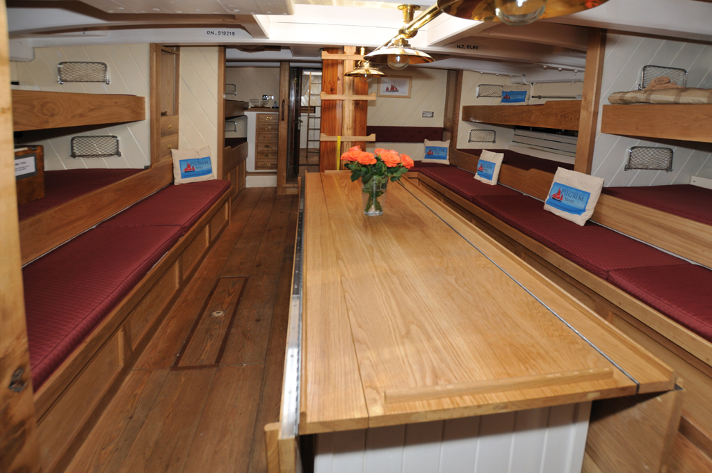 Pilgrim of Brixham classic comfort and spacious below decks