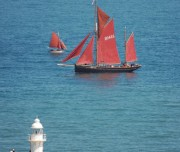 Classic Sailing Boat off Brixham Lighthouse