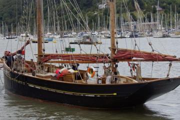 Classic Sailing Trawler Pilgrim on The River Dart