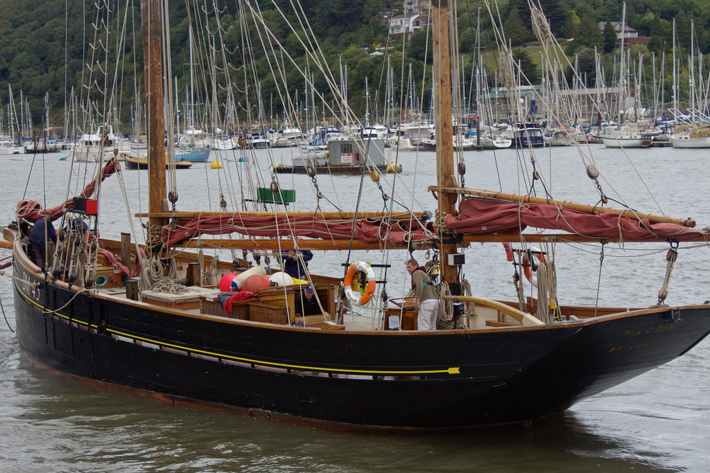 Classic Sailing Trawler Pilgrim on The River Dart