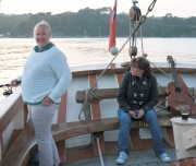 Guests onboard Pilgrim enjoying a spot of fishing