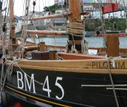 Pilgrim Classic Sailing Boat alongside Brixham