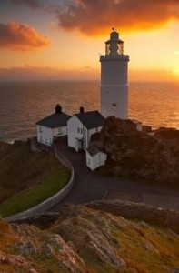 Start Point Lighthouse at sunset