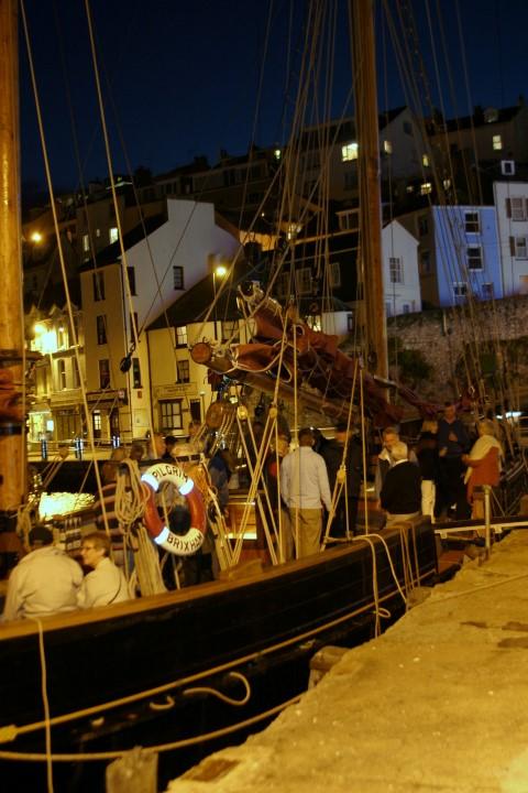 Guests onboard enjoying an evening alongside (Small).JPG