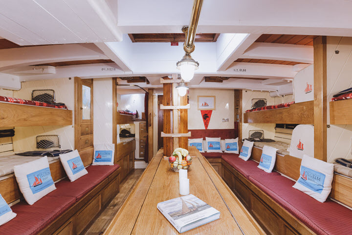 Pilgrim BM45 below decks