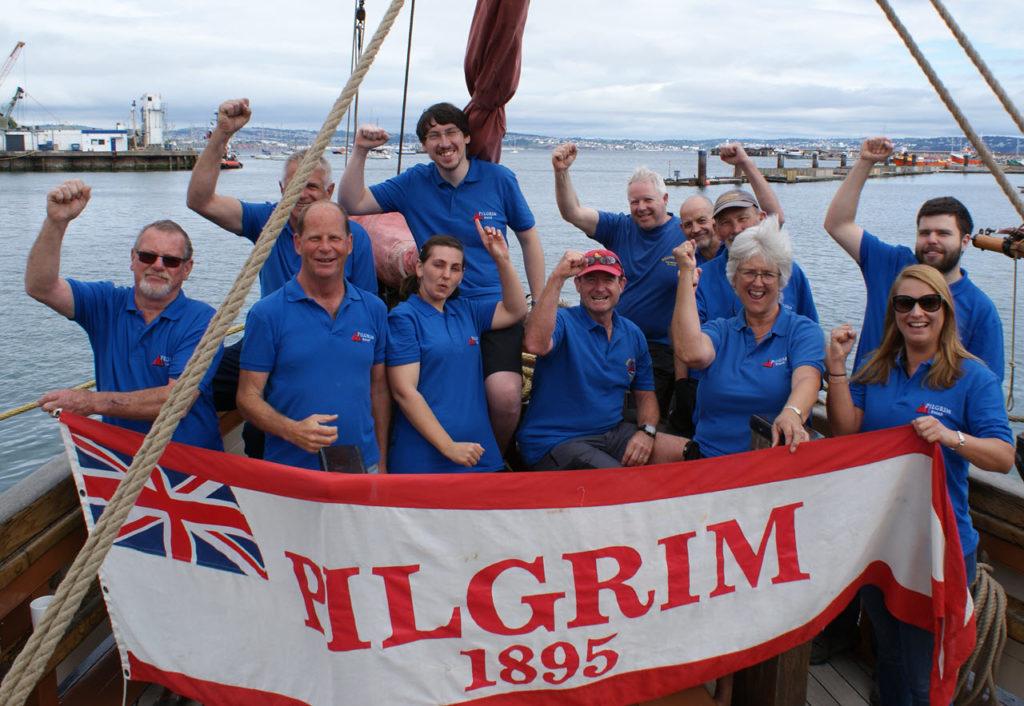 Pilgrim's Regatta winning crew 2019